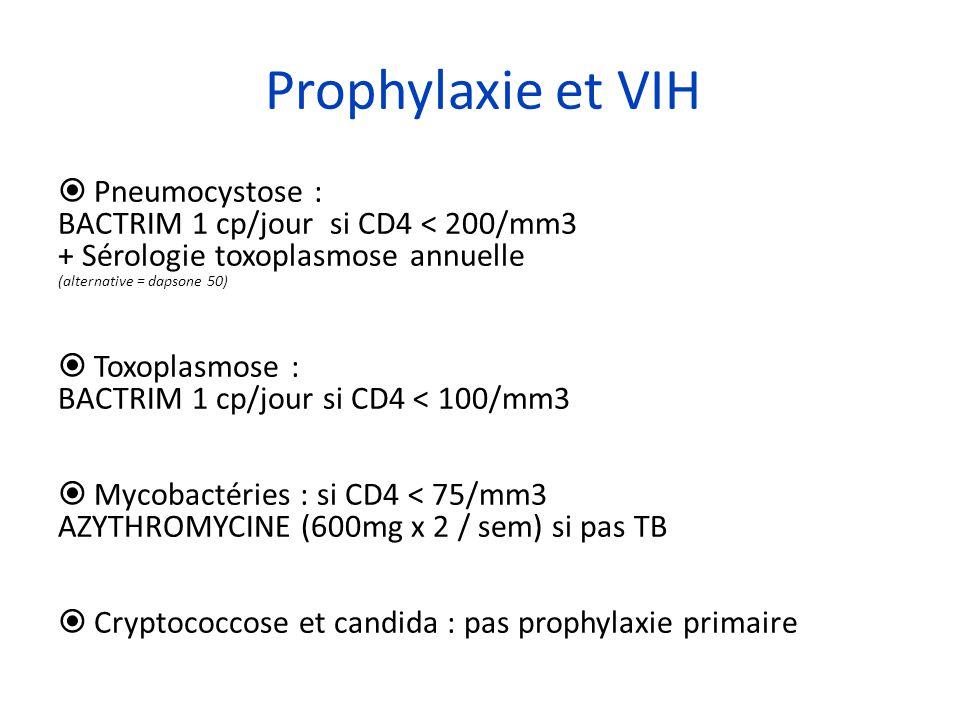Prophylaxie et VIH Pneumocystose :