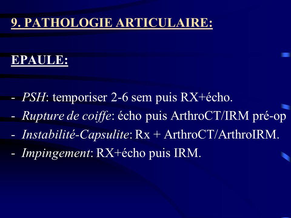 9. PATHOLOGIE ARTICULAIRE: