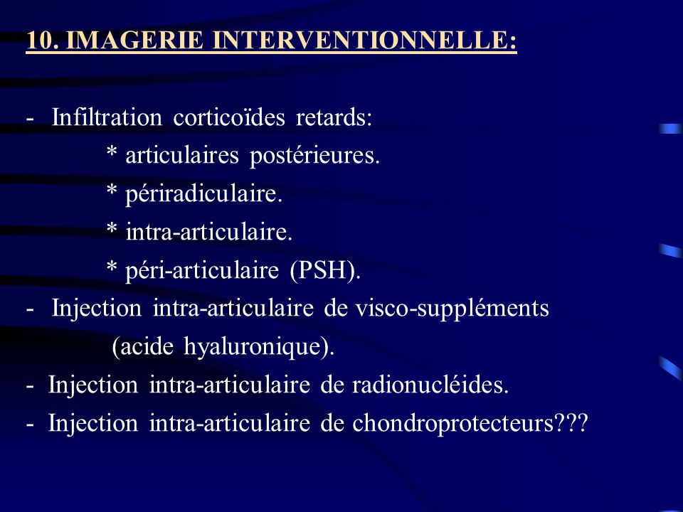 10. IMAGERIE INTERVENTIONNELLE: