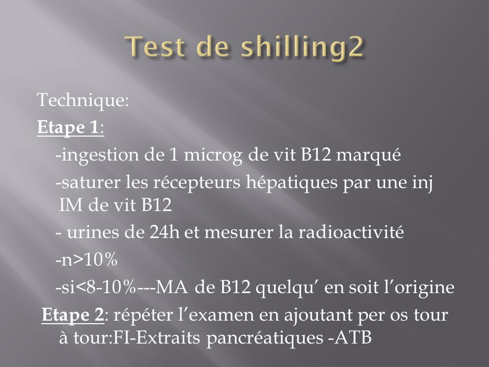 Test de shilling2 Technique: Etape 1:
