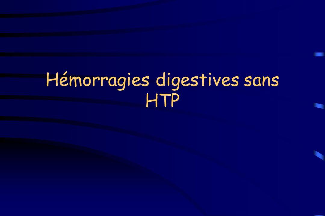 Hémorragies digestives sans HTP