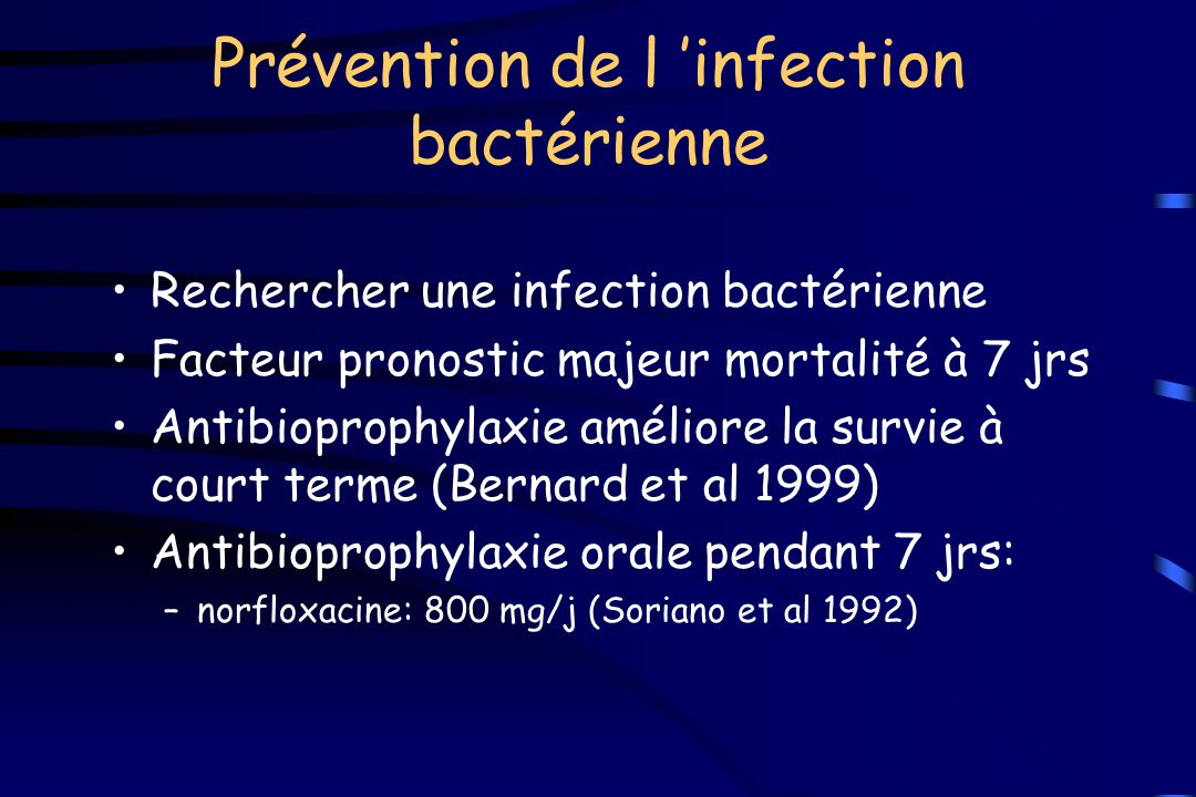 Prévention de l 'infection bactérienne