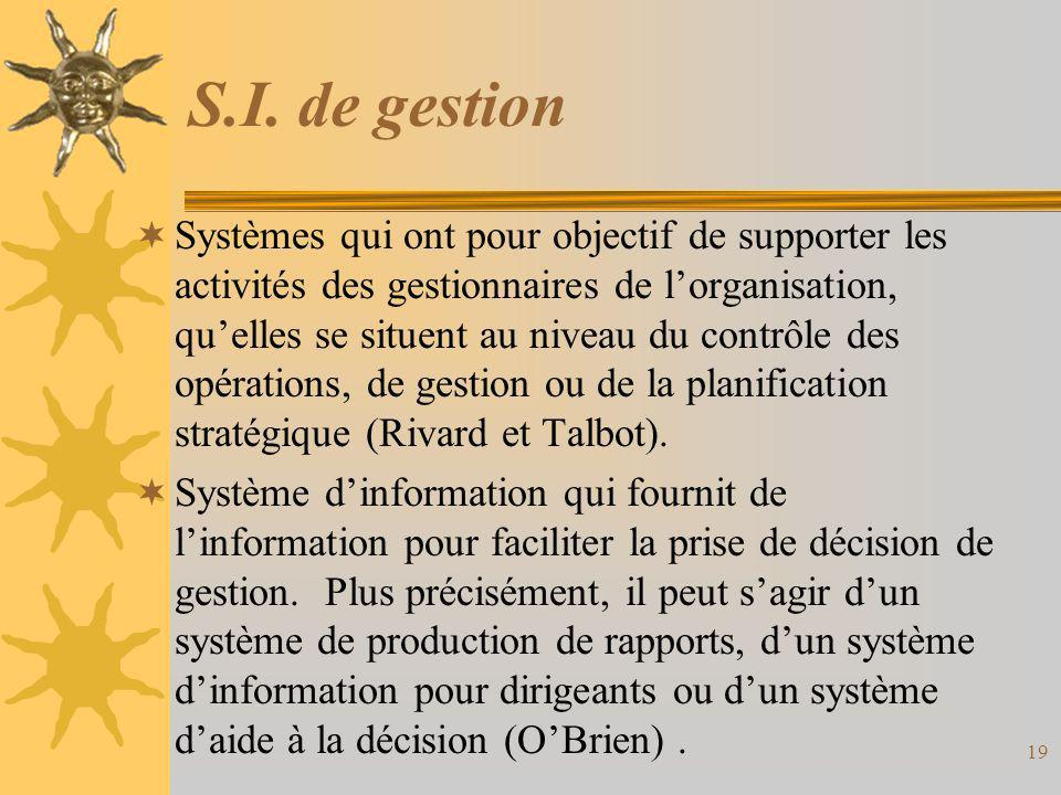 S.I. de gestion