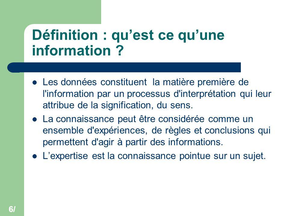 Définition : qu'est ce qu'une information