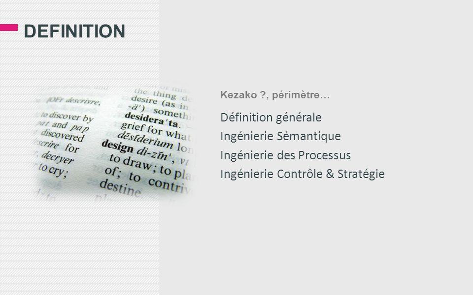 definition Définition générale Ingénierie Sémantique