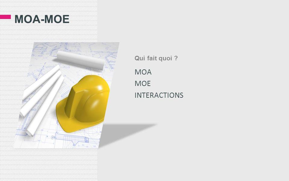MOA-MOE Qui fait quoi MOA MOE INTERACTIONS