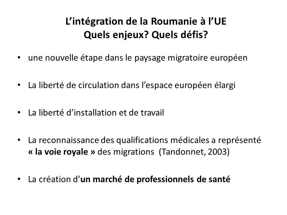 L'intégration de la Roumanie à l'UE Quels enjeux Quels défis