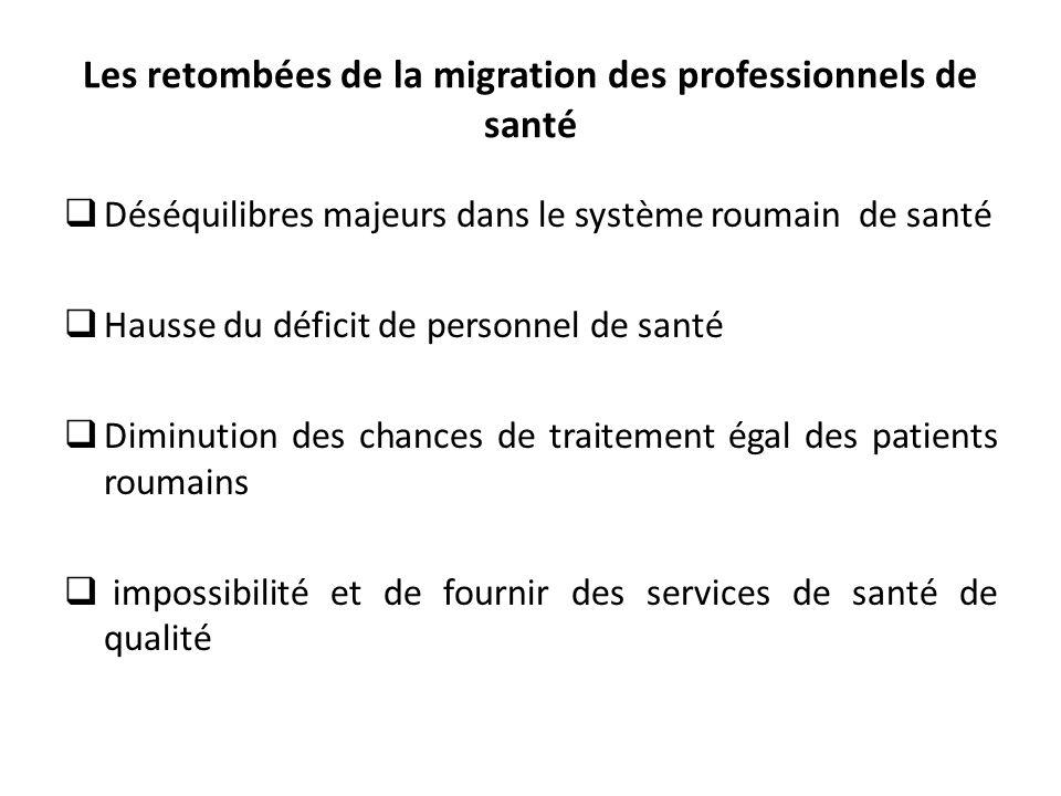 Les retombées de la migration des professionnels de santé