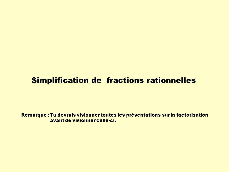 Simplification de fractions rationnelles