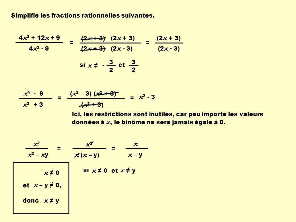 x4 - 9 x2 + 3 (x2 – 3) (x2 + 3) x2 x2 – xy x2 x (x – y) x x – y