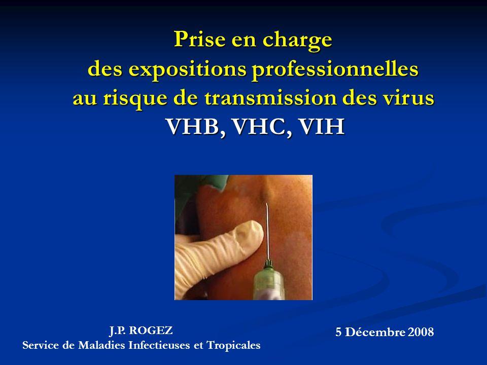 des expositions professionnelles au risque de transmission des virus