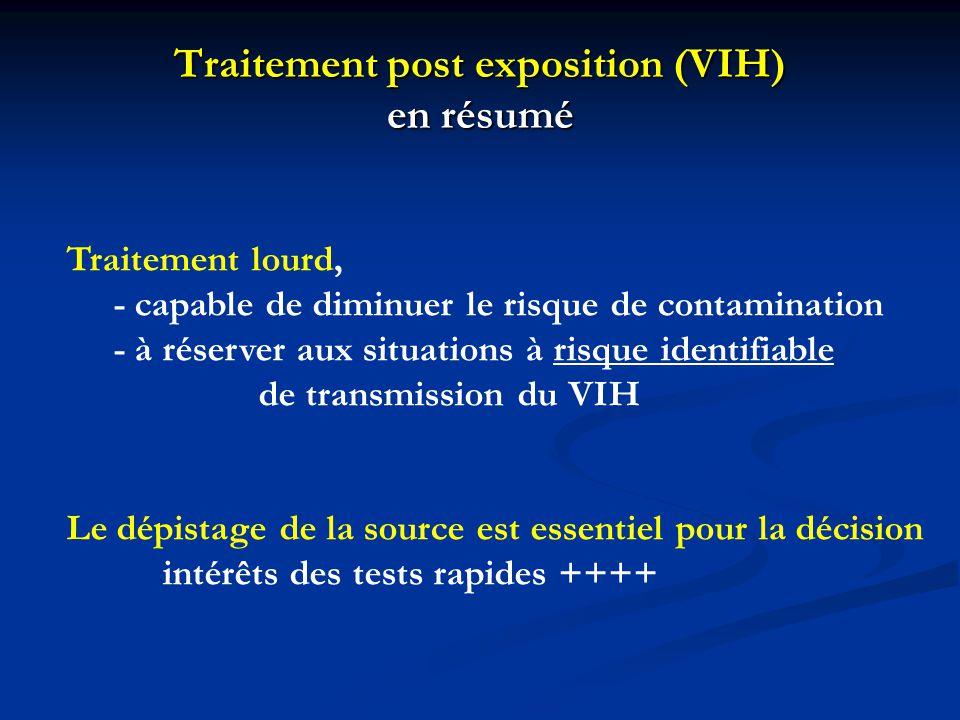 Traitement post exposition (VIH) en résumé