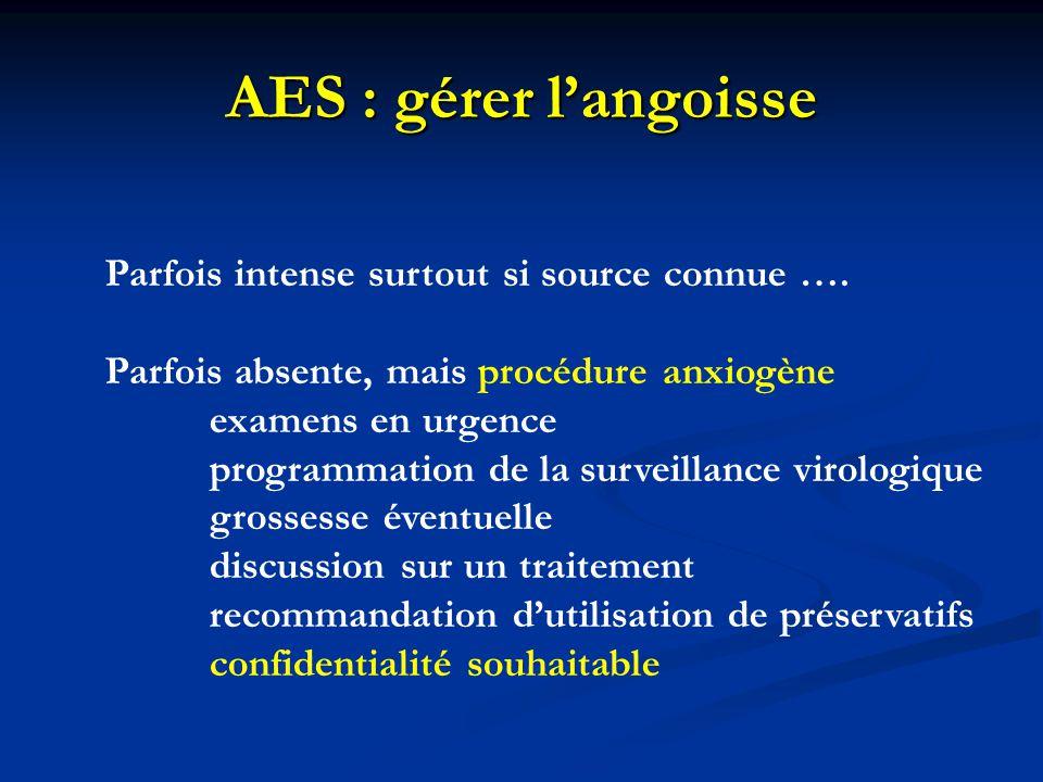 AES : gérer l'angoisse Parfois intense surtout si source connue ….