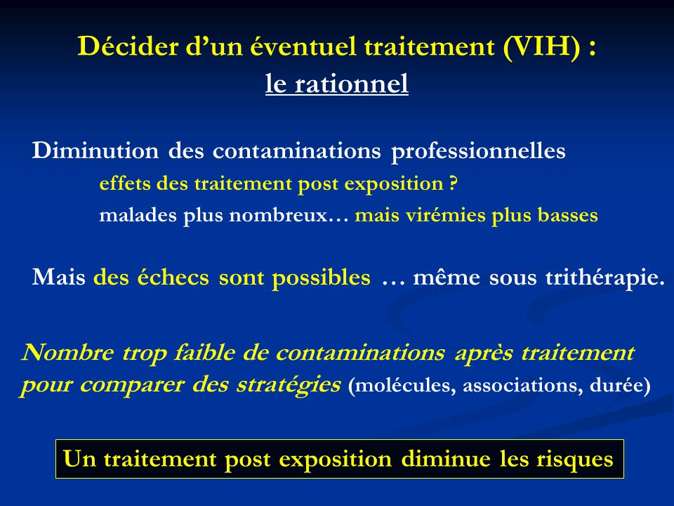 Décider d'un éventuel traitement (VIH) : le rationnel
