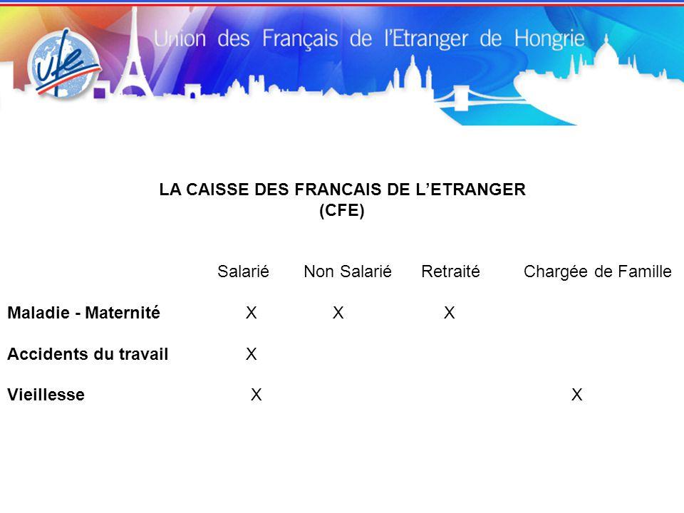 LA CAISSE DES FRANCAIS DE L'ETRANGER
