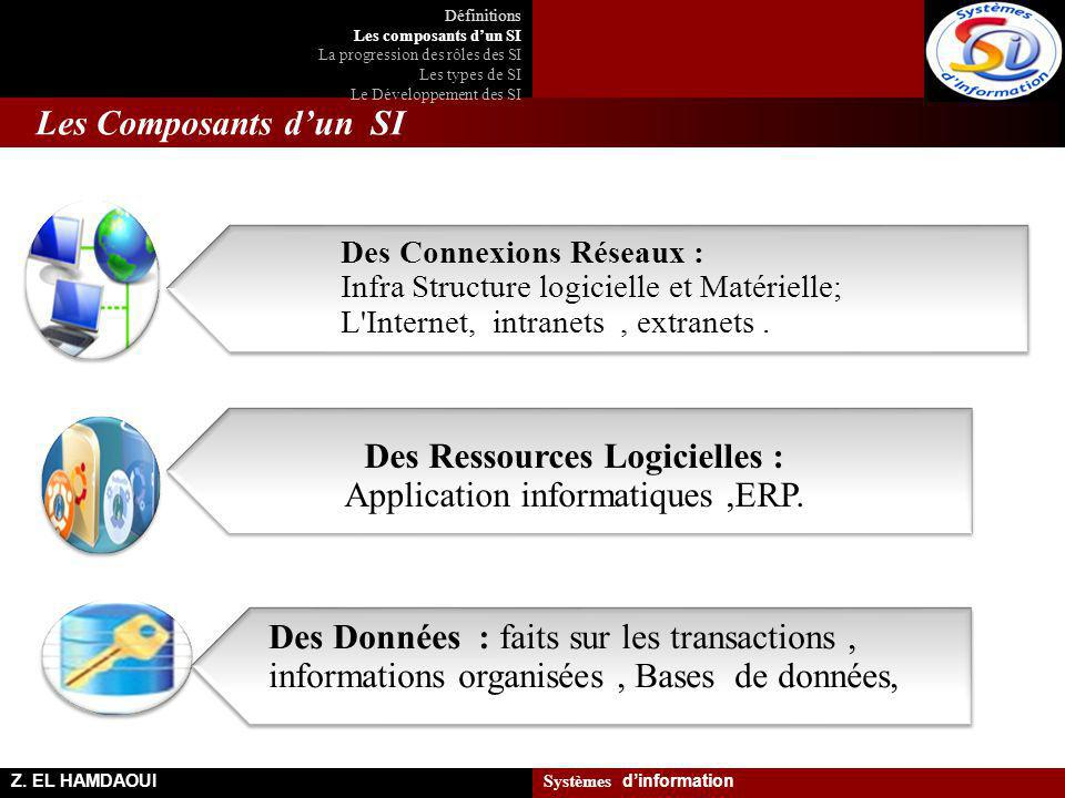 Des Ressources Logicielles : Application informatiques ,ERP.