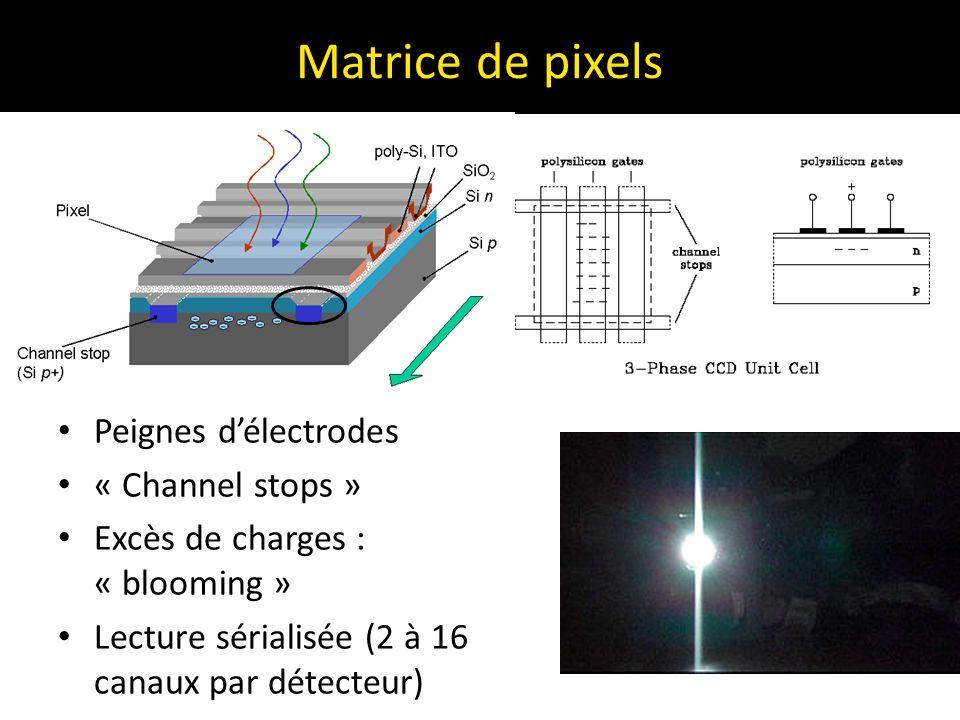Matrice de pixels Peignes d'électrodes « Channel stops »