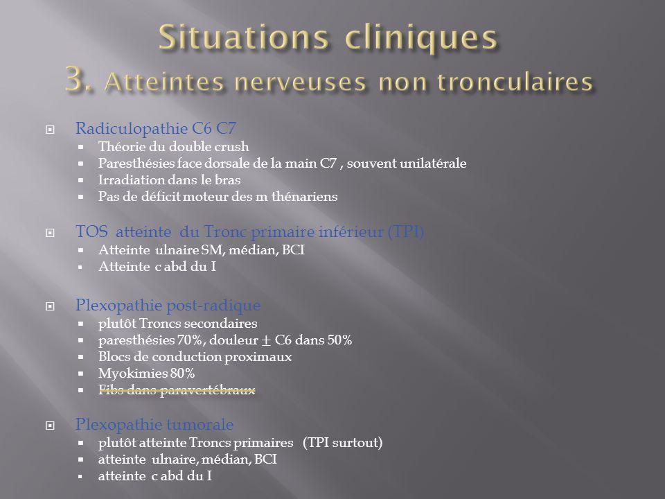 Situations cliniques 3. Atteintes nerveuses non tronculaires