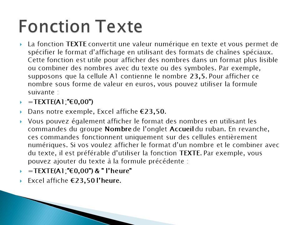 Fonction Texte
