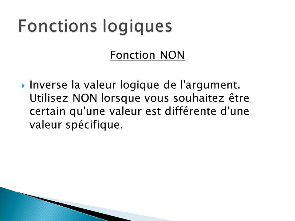 Fonctions logiques Fonction NON