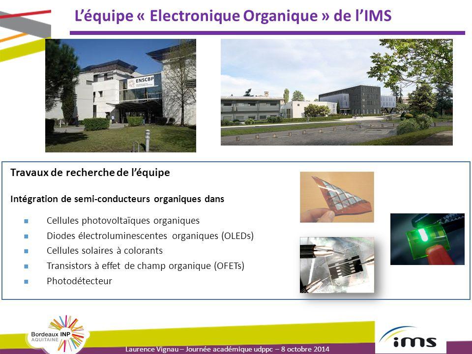 L'équipe « Electronique Organique » de l'IMS