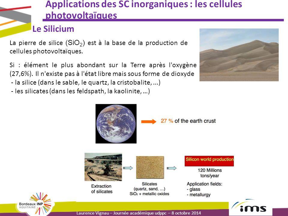 Applications des SC inorganiques : les cellules photovoltaïques