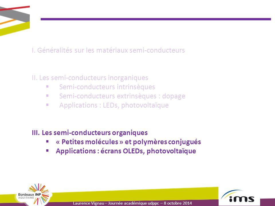 I. Généralités sur les matériaux semi-conducteurs