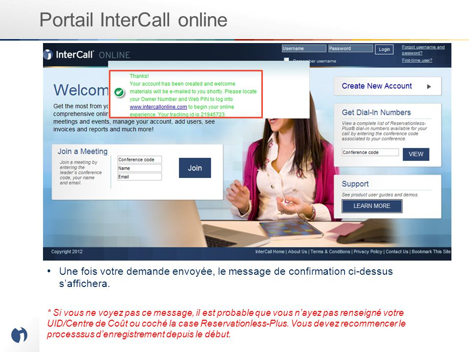 Portail InterCall online