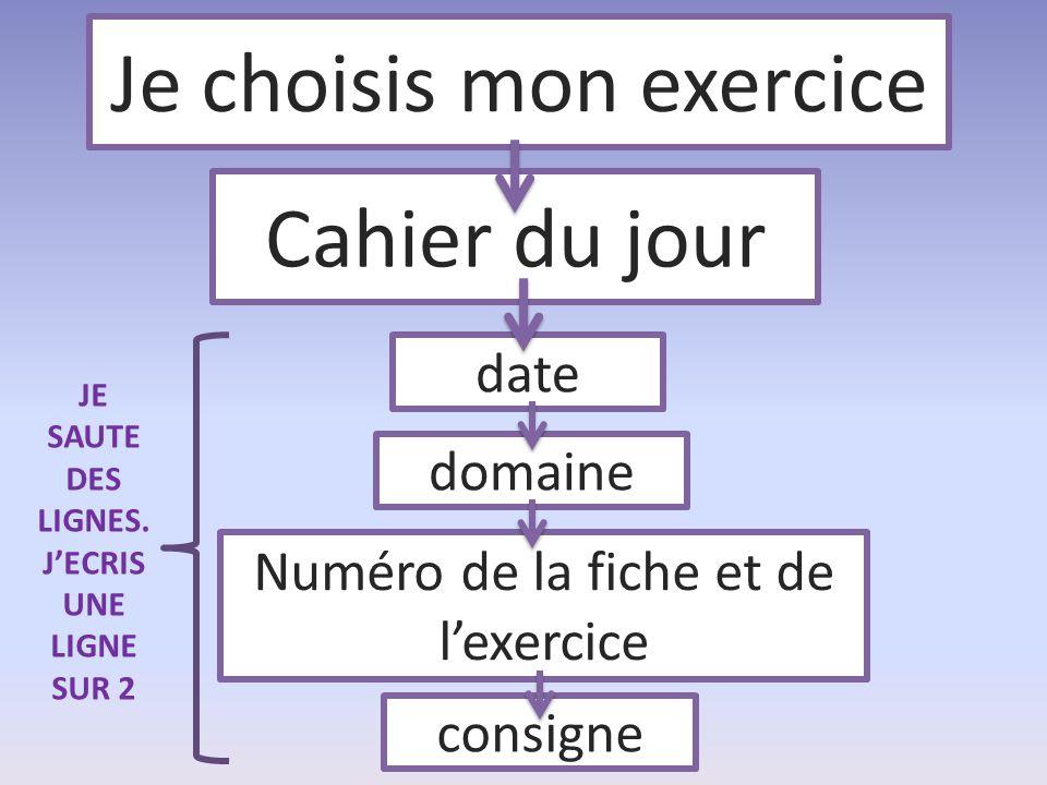 Je choisis mon exercice