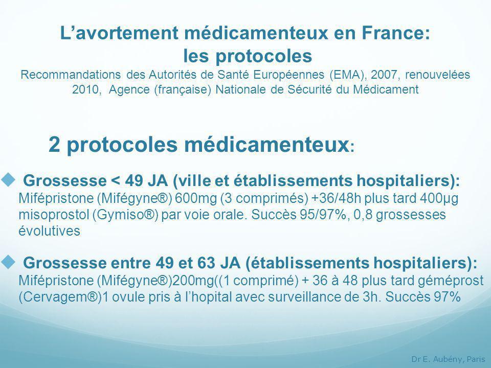 2 protocoles médicamenteux: