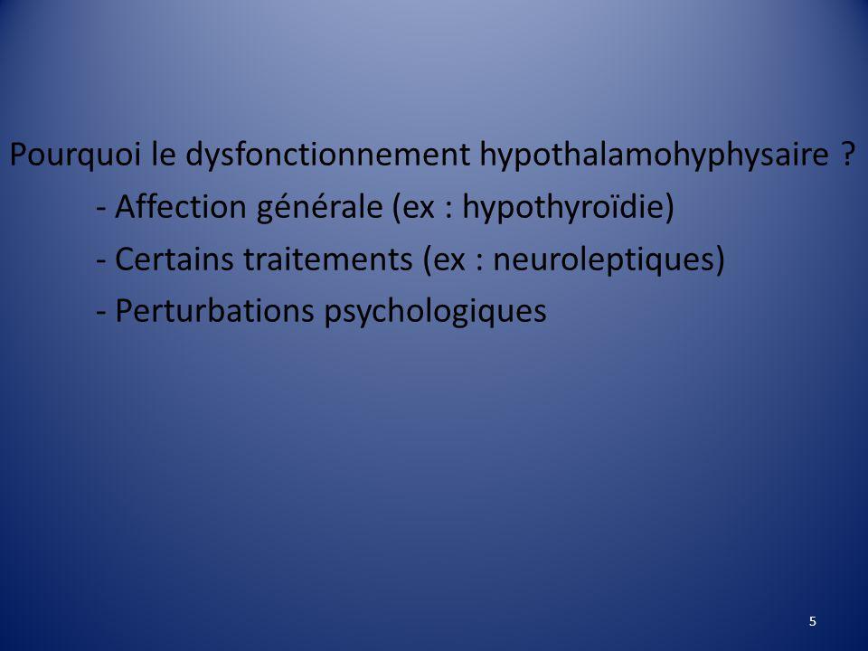 Pourquoi le dysfonctionnement hypothalamohyphysaire