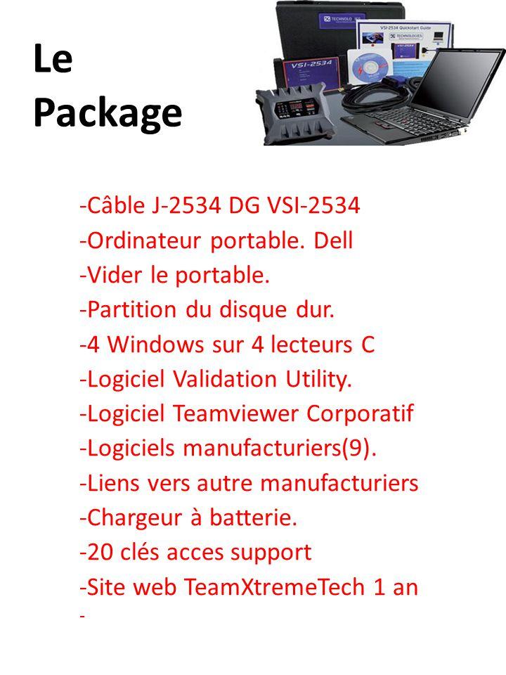Le Package -Câble J-2534 DG VSI-2534 -Ordinateur portable. Dell