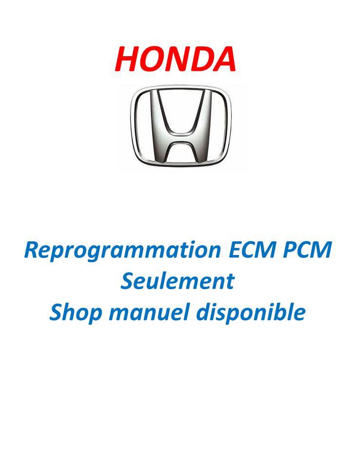 Reprogrammation ECM PCM Shop manuel disponible