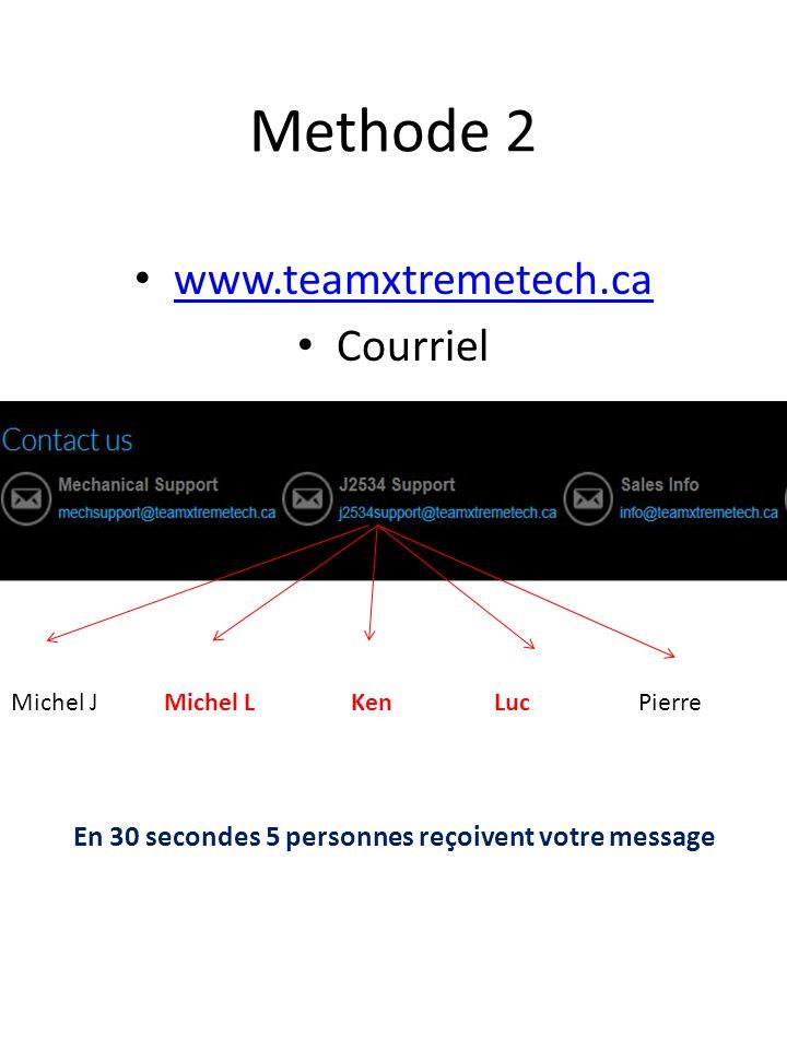 Methode 2 www.teamxtremetech.ca Courriel
