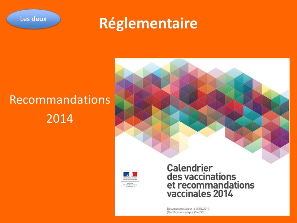 Réglementaire Les deux Recommandations 2014