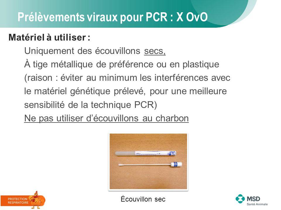 Prélèvements viraux pour PCR : X OvO