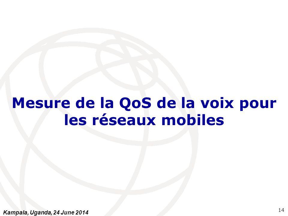 Mesure de la QoS de la voix pour les réseaux mobiles