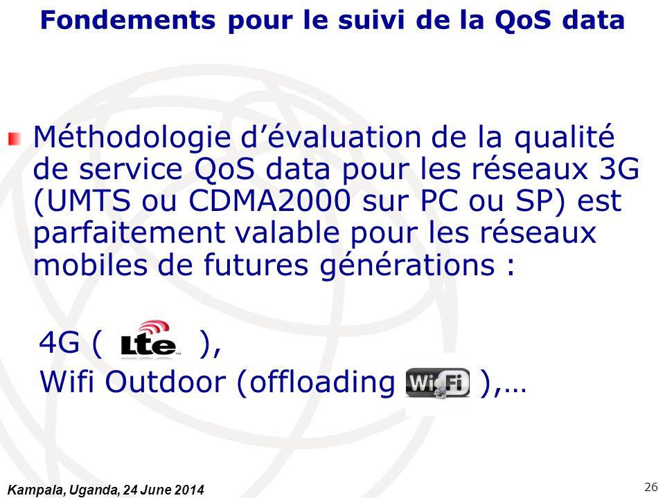 Fondements pour le suivi de la QoS data