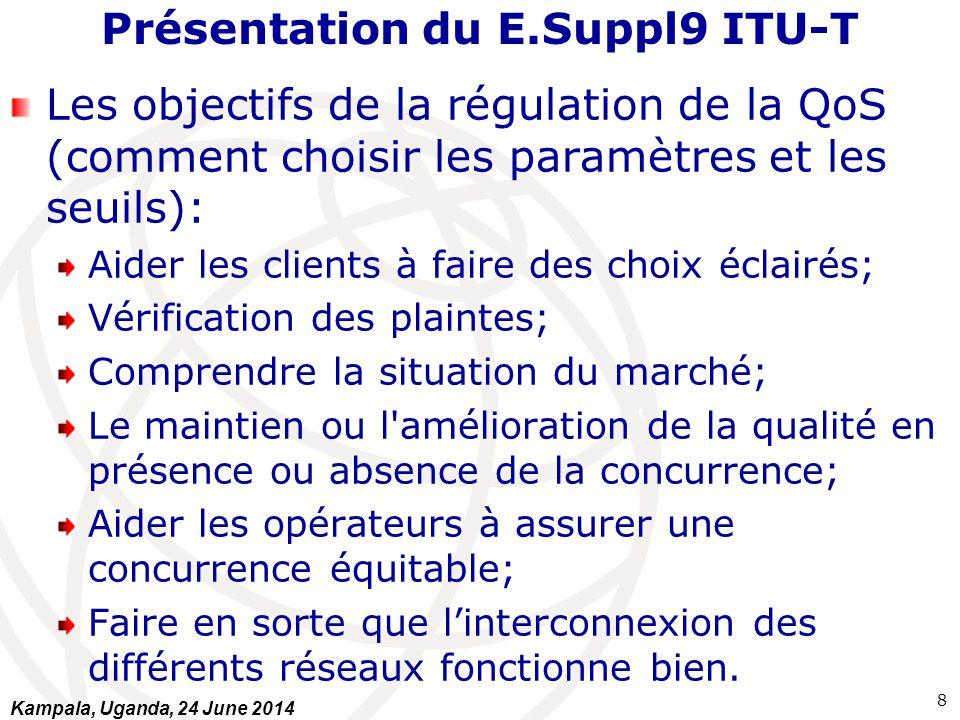 Présentation du E.Suppl9 ITU-T