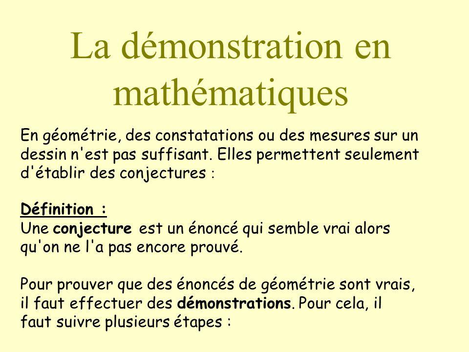 La démonstration en mathématiques