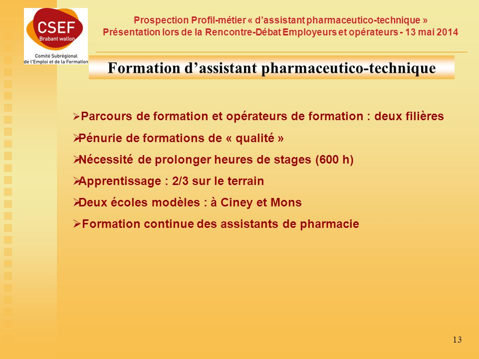 Formation d'assistant pharmaceutico-technique