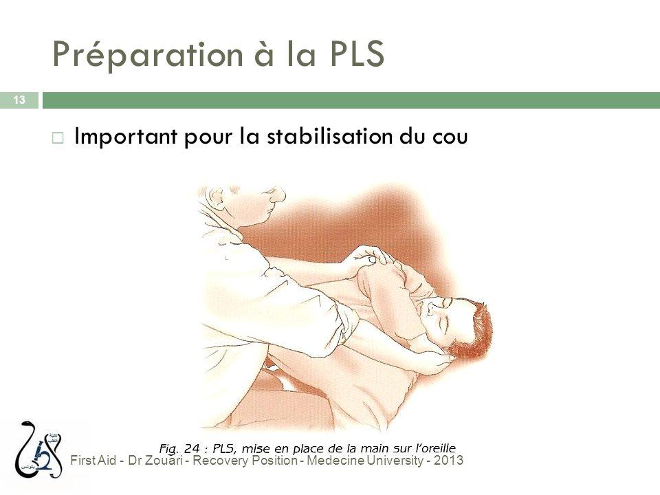 Préparation à la PLS Important pour la stabilisation du cou