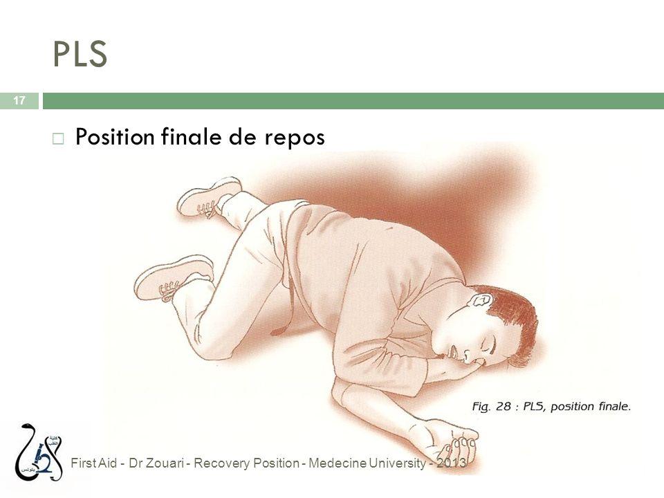 PLS Position finale de repos
