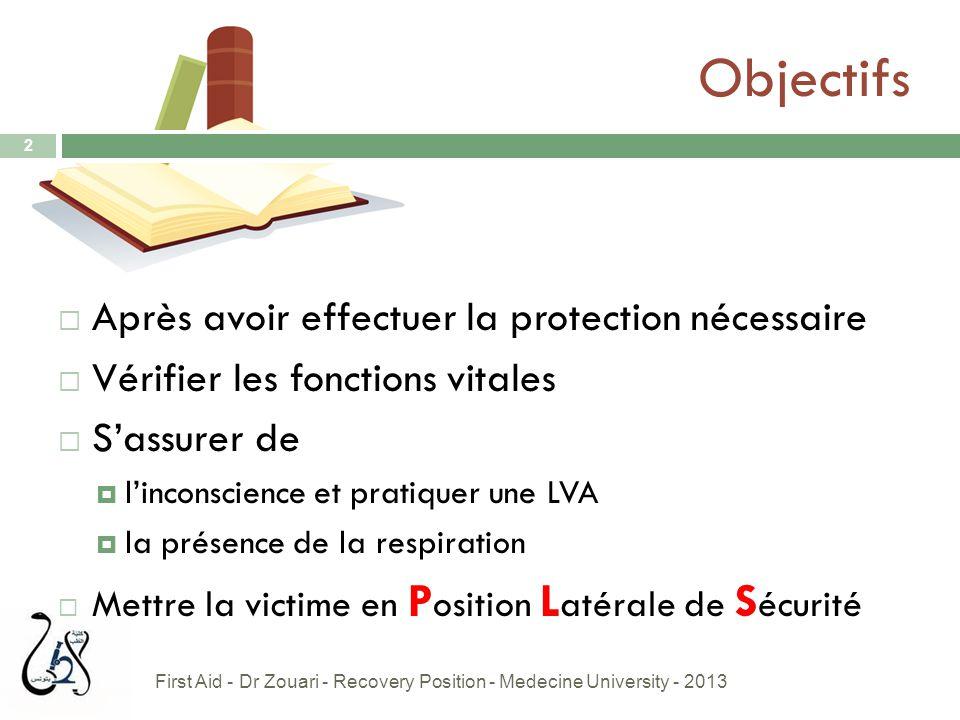 Objectifs Après avoir effectuer la protection nécessaire