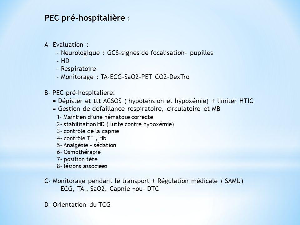PEC pré-hospitalière :