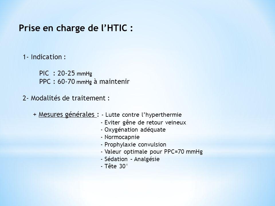 Prise en charge de l'HTIC :