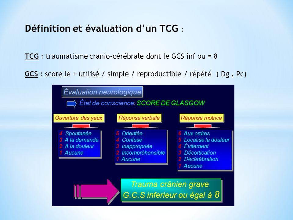 Définition et évaluation d'un TCG :