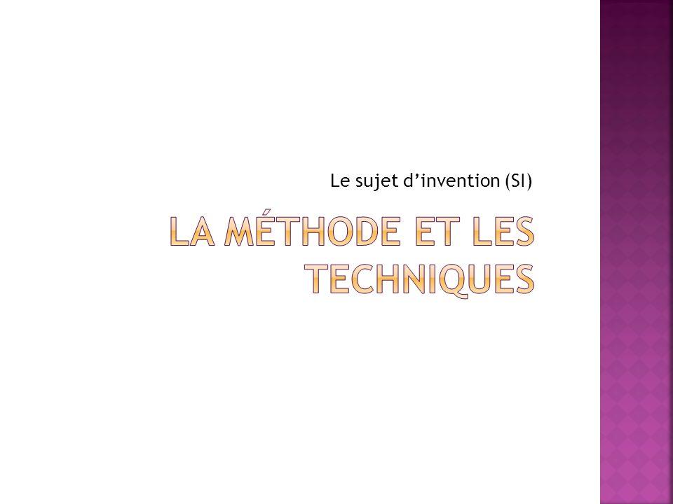 La méthode et les techniques