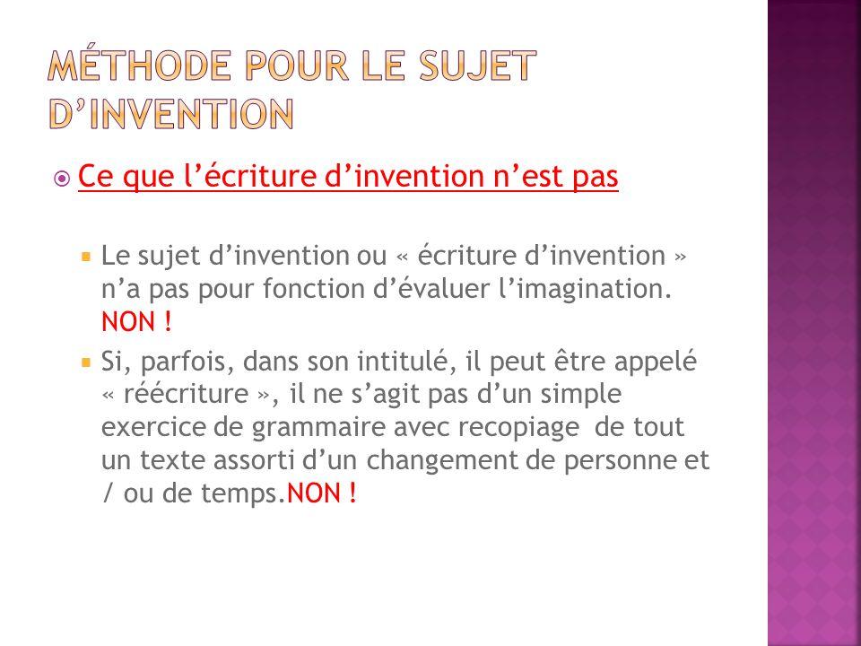 Méthode pour le sujet d'invention