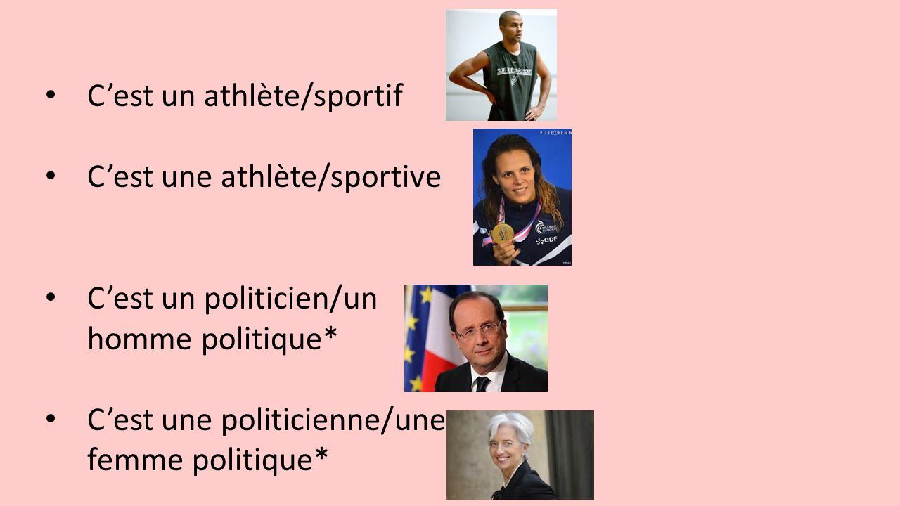 C'est un athlète/sportif